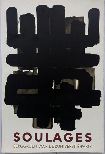 Pierre Soulages, 'Galerie Berggruen, 1958 (Deluxe edition) - Original lithograph poster', 1958