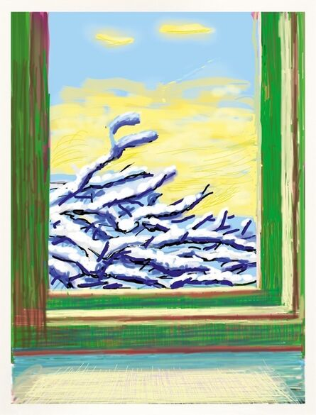 David Hockney, 'iPad drawing | My window `No 610`, 23rd December 2010 - Do remember they can't cancel the spring', 2019