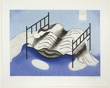 Louise Bourgeois, 'Blue Bed', 1998