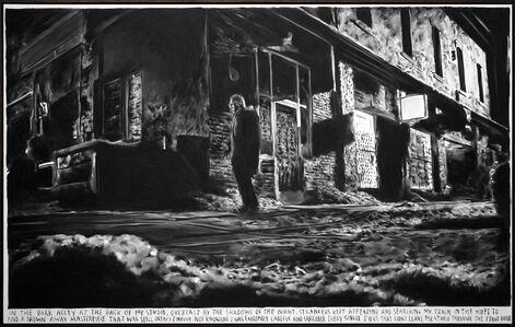 Rinus Van de Velde, 'In the dark alley at the back of my studio,…', 2017