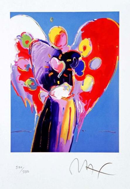 Peter Max, 'Blue Angel with Heart', 2003