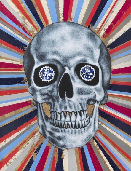 Tom Sanford, 'Red White amd Blue Corona Skull', 2020