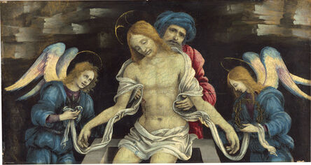 Filippino Lippi, 'Pietà (The Dead Christ Mourned by Nicodemus and Two Angels)', ca. 1500