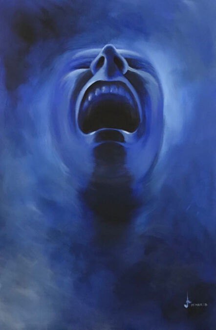 Lakshmi Mohanbabu, 'Smoke Screen - Deep Blue', 2018
