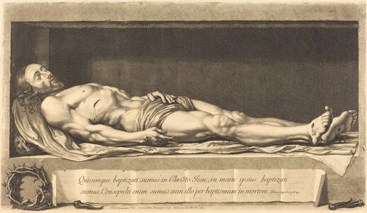 Nicolas de Plattemontagne after Philippe de Champaigne, 'The Body of Christ', 1654