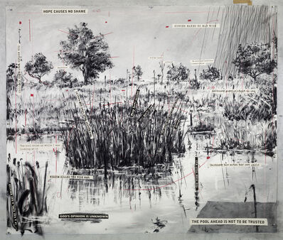 William Kentridge, 'Untitled (The Pool Ahead Is Not To Be Trusted)', 2018