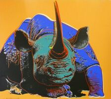 Andy Warhol, 'Black Rhinoceros (FS II.301)', 1983