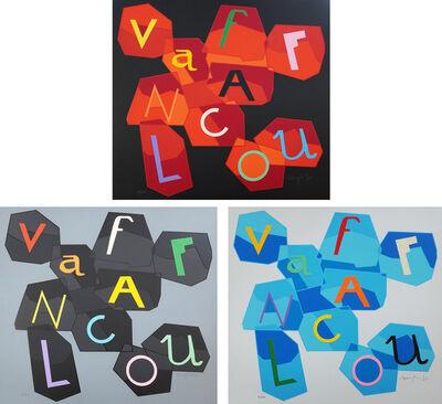 Ugo Nespolo, 'Vaffanculo (Fuck You - Complete Folder with 3 Serigraphs)', 2010