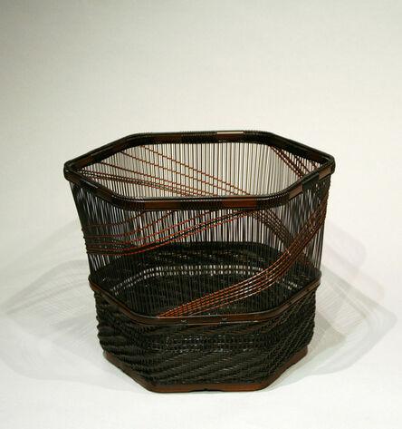 Tanaka Kyokusho, 'Yamaji-ami Kushime Flower Basket', 1985