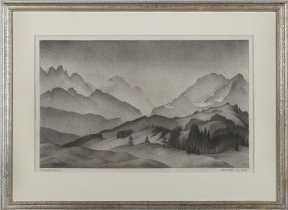 """Alexander Kanoldt, '""""Bergwelt / Wetterstein""""', 1937"""