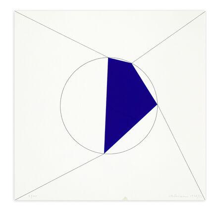 Getulio Alviani, 'Uno. Due. Tre. Quattro. poligono regolare a lati progressivi iscritto nel cerchio, 1978/1993', 1993