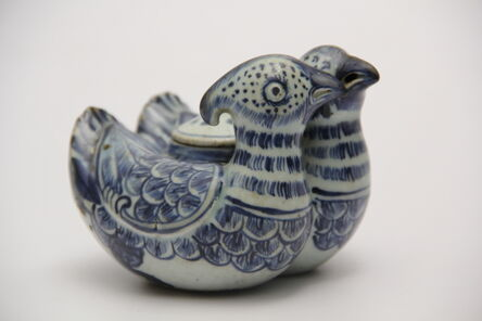 Unknown Artist, 'Blue and white twin duck water dropper', ca. Late 15th-early 16th century