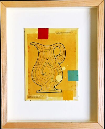 """Donald Baechler, 'Painting for Acria (""""The only rose without a thorn is friendship"""" & """"Stop searching forever. Happiness is just next to you"""")', 1996"""