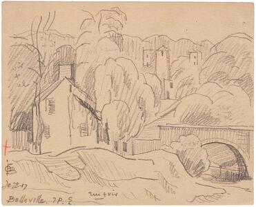 Oscar Bluemner, 'BELLEVILLE', 1917