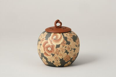 Ito Sekisui V, 'Mumyoi Neriage Round Incense Burner with Flower Patterns', 2016