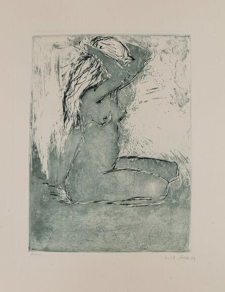 Emil Nolde, 'KNIENDES MÄDCHEN', 1907