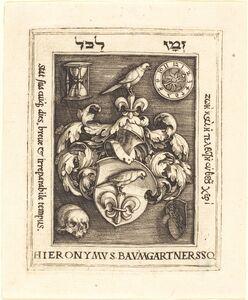 Barthel Beham, 'Bookplate of Hieronymus Baumgartner'