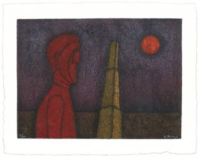 Rufino Tamayo, 'Figura en Roja', 1989