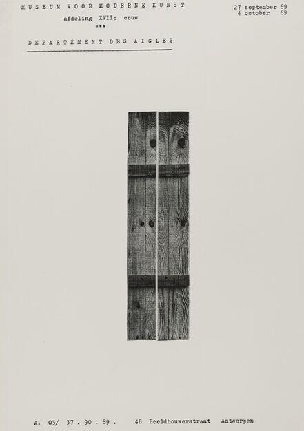 Marcel Broodthaers, 'Museum of Modern Art: Department of Eagles', 1968