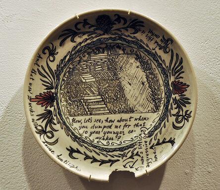 Heather Ossandon, 'Commemorative Plates of Shitty Things: The Break Ups-Bruce', 2014