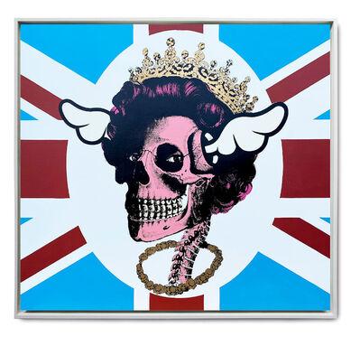 D*Face, 'Her Royal Hideousness (HRH) - Pink Skull', 2015