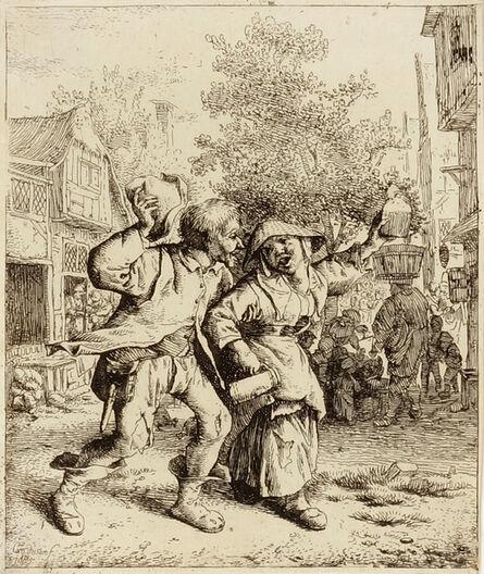 Cornelis Dusart, 'Drunken Couple (Le couple ivre)', Not dated