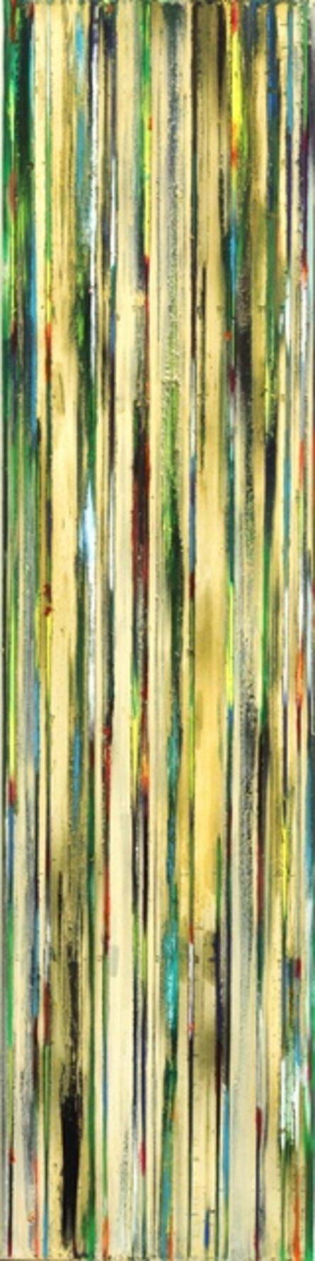 Petra Rös-Nickel, 'Green Blue Stripes', 2014