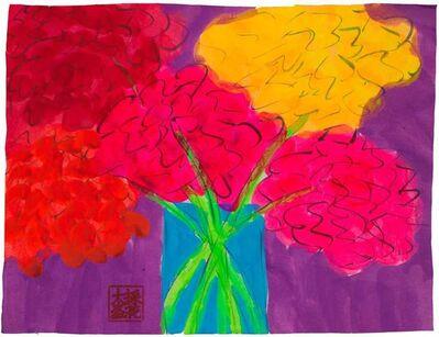 Walasse Ting 丁雄泉, 'Vase of Hydrangeas', 1990-2000