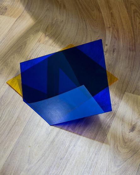 Oran Hoffmann, 'Objektiv: Wood Print Linoleum, Plexiglass (Yellow and Blue)', 2014