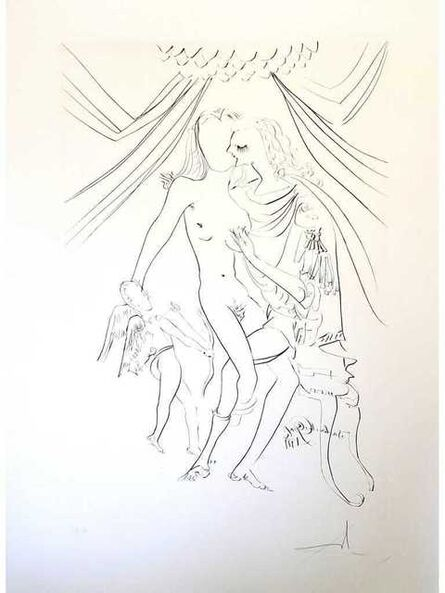 "Salvador Dalí, 'Original Etching ""Venus, Mars and Cupidon"" by Salvador Dali', 1971"