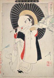 Tsukioka Yoshitoshi, 'Heron Maiden', 1889