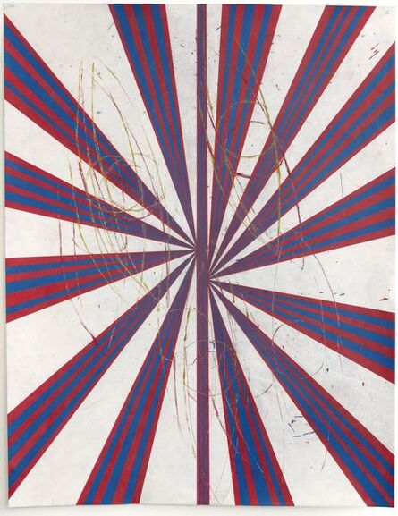 Mark Grotjahn, 'Untitled (Butterfly with Eyes CB and SL 768)', 2008