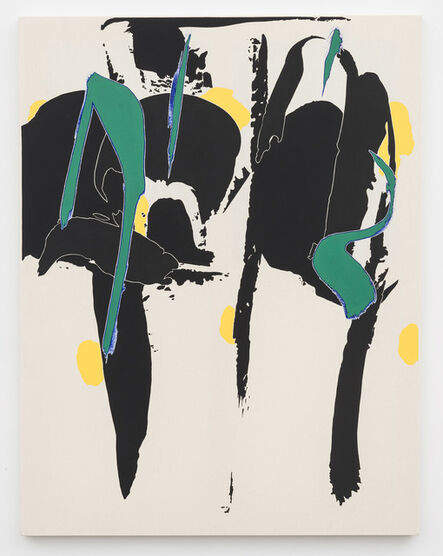 Zak Prekop, 'Division with Green Yellow and Black', 2015