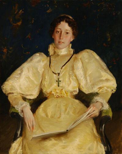 William Merritt Chase, 'The Golden Lady', 1896