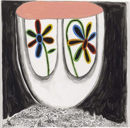 Trenton Doyle Hancock, 'Give Me My Flowers While I Yet Live Version #1', 2010