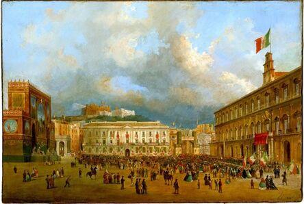 Ippolito Caffi, 'Arrival of Victor Emmanuel II in Naples the 7 November 1860', 1860