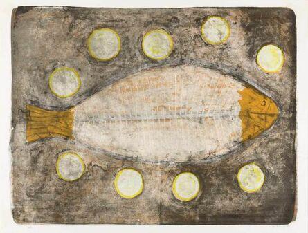 Rufino Tamayo, 'MEDIO PESCADO (P. 117)', 1969