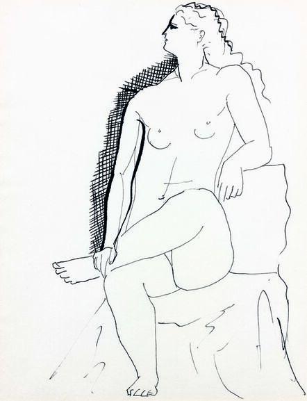 Pablo Picasso, 'Nu assis', ca. 1925