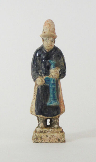 Anonymous, 'Ancient Chinese Statuette of a Servant with a Trumpet', Ming Dynasty (1368-1644)