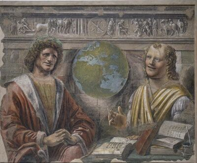 Donato Bramante, 'Heraclitus and Democritus ', 1487-1488