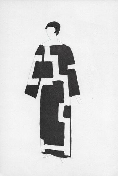 Sonia Delaunay, 'La dame en noir et blanc', 1969