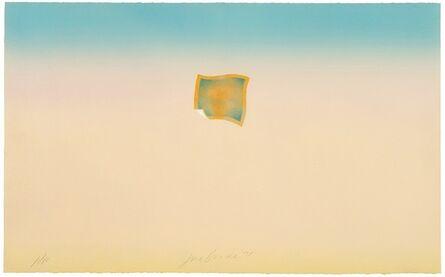 Joe Goode, 'Untitled (small orange photo on peach and blue background)', 1971
