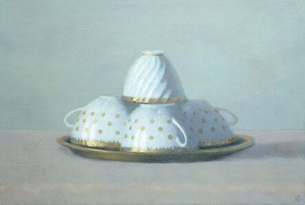 Olga Antonova, 'Four White & Gold Teacups', 2014