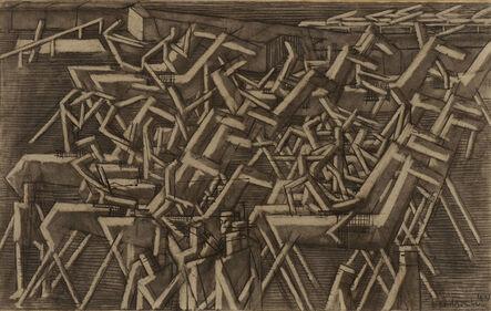 David Bomberg, 'Racehorses', 1913