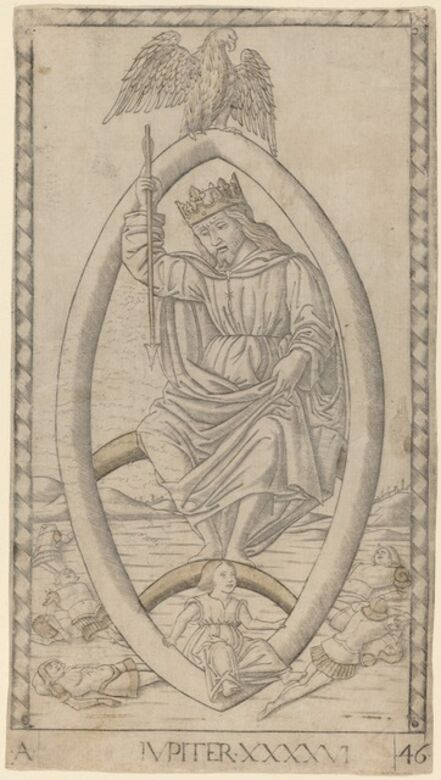 Master of the E-Series Tarocchi, 'Iupiter (Jupiter)', ca. 1465