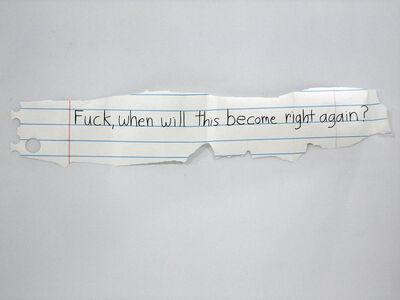 Michael Scoggins, 'Right Again?', 2010