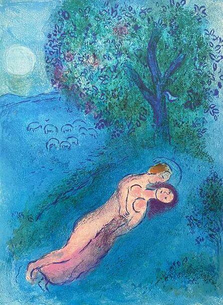 """Marc Chagall, '""""La Leçon de Philétas (Philetas's Lesson),"""" from Daphnis et Chloé (Cramer 46; Mourlot 323)', 1977"""