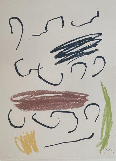 Joan Miró, 'Obra Inedita Recent (plate VII)', 1964