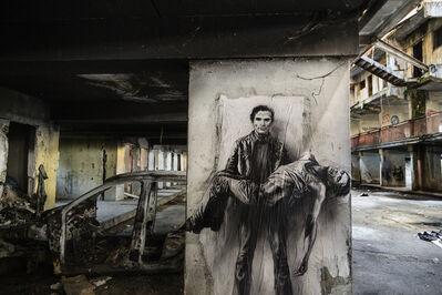 Ernest Pignon-Ernest, 'Si je reviens. Pasolini [Scampia, 4]', 2015