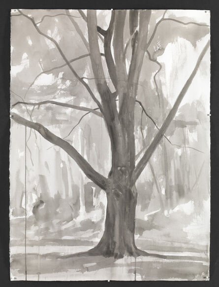 George Shaw (b. 1966), 'Study for Hanging Around II ', 2015